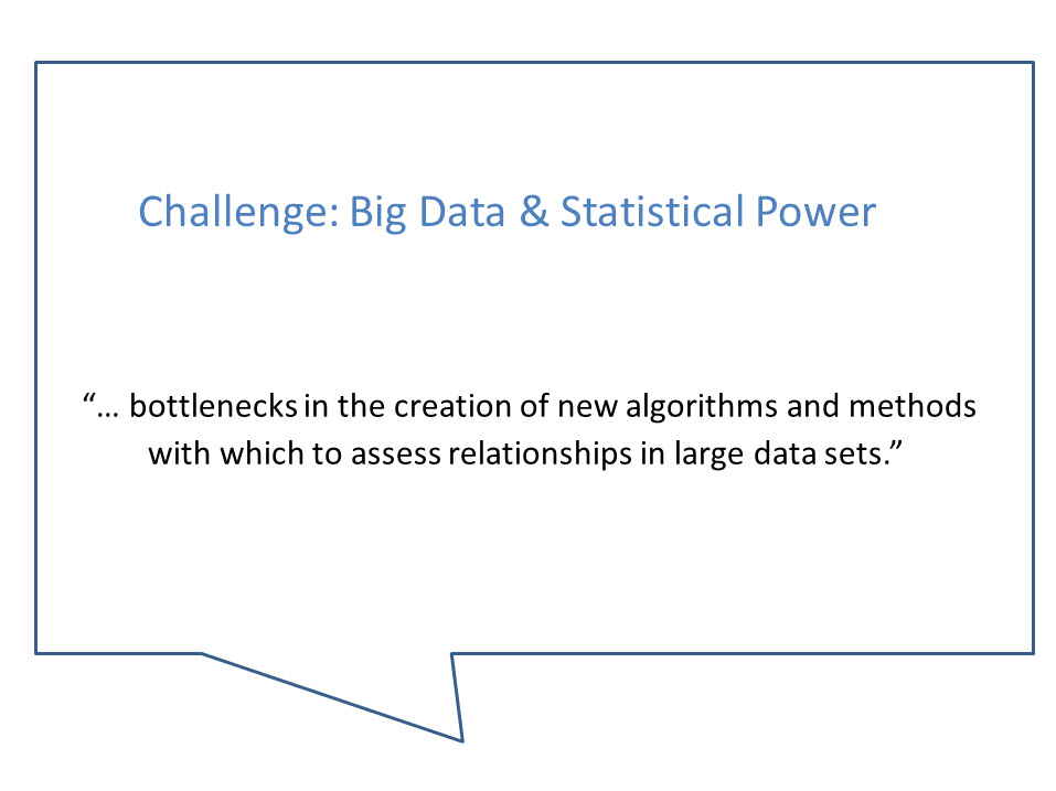 Big Data and Statical Power
