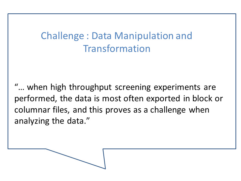 Data manipulation and transformation